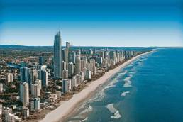local mobile app development agency Aerial photo from Gold Coast